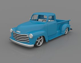 Chevrolet 3100 Pickup 1950 Classic for 3D Printing STL 1