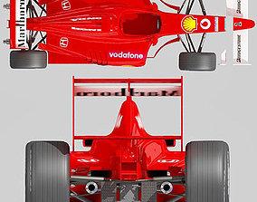 Red Formula 1 3D