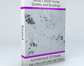 3D Seoul Streets and Buildings