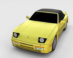 Porsche 944 Convertible rev 3D model
