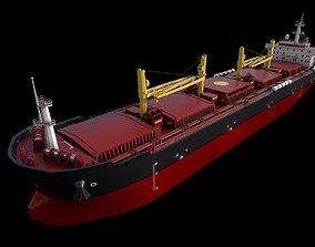 3D asset Bulk carrier 01 pier