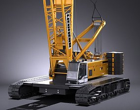 Liebherr LR 1160 Hydraulic Lift Crane 3D