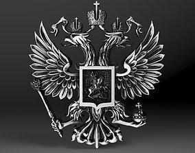 3D print model Gerb Russian coat of arms Eagle pendant