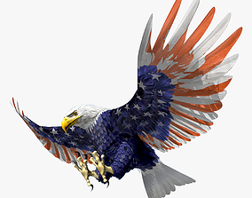 3D model Bald Eagle 2 Stars And Stripes