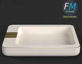 Rectangular ceramic ashtray 3D model