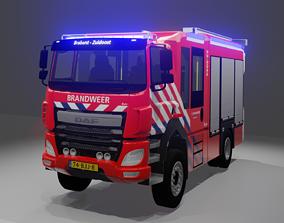 DAF CF 310 Fire Truck Dutch 3D