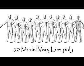 3D asset Collection Characters Very Low-poly - 50 Body 2