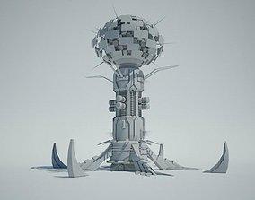 fi 3D Futuristic Sci Fi Building