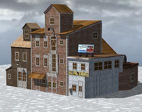 Wharf Building obj format 3D