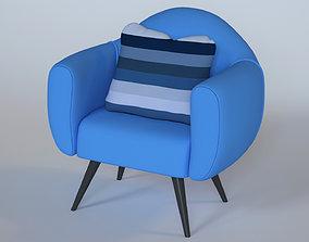 Comfortable sofa cloth 3D model