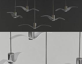 3D model chandelier Brokis Night Birds