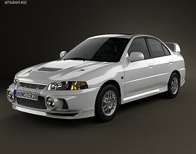 Mitsubishi Lancer Evolution 1997 3D model