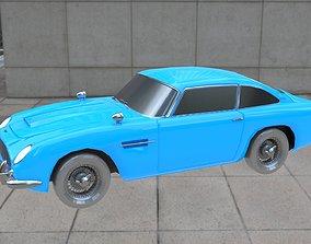 3D model game-ready Aston Martin DB5