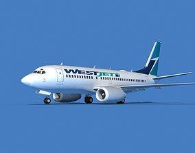 3D Boeing 737 MAX 7 West Jet