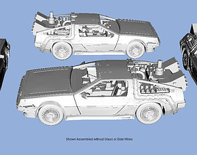 HO Scale or larger Back to the Future 3D Print Model 1-87