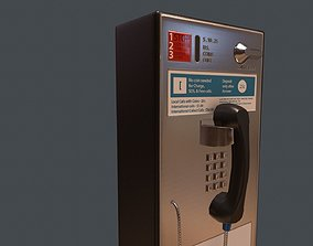 3D asset Game Ready Pay Phone