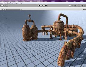 3D model Abandoned Reactor Unit