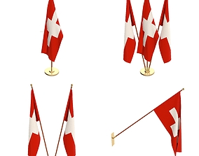3D model Switzerland Flag Pack