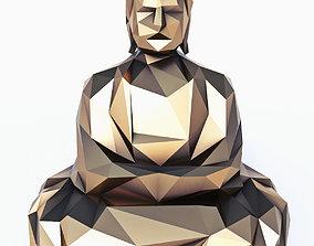 3D model Buddha 5 Low Poly