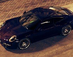 Porsche 911 turbo s 3d model game-ready