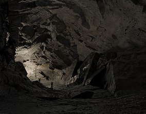 Game Ready Low Poly Cave 3D model realtime