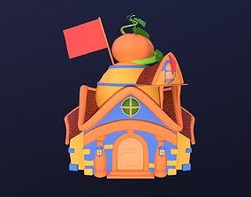 Asset - Cartoons - Background- House 03 - Hight animated