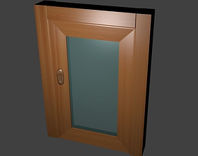 Modern wood door 3D model