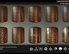 10 PBR Golden Pattern Material 3D model