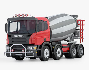 construction 3D model Scania Concrete Mixer