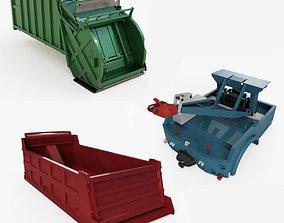 Industrial truck parts 3D model