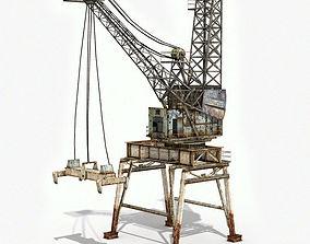 Crane Container Terminal 3D model