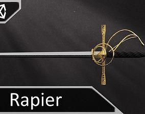 3D model Golden Rapier