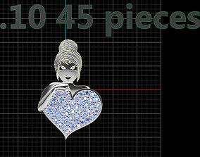3D print model Girl Pendant