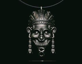 Pendant skull aztec 3D printable model