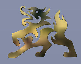 Flat kylin 3D printable model