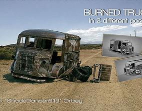 Burned Truck Wreck 3D