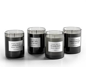 Candle Perfumes Set 3D aromatherapy