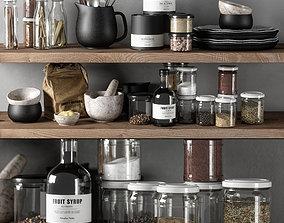 kitchen decor set 03 container 3D