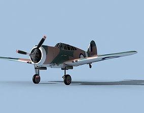 Curtiss H-75C Mohawk New Zealand 3D model
