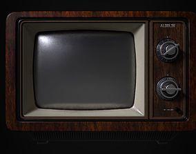 Old TV 3D asset low-poly