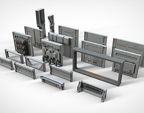 3D model sci-fi Architecture kitbash 16