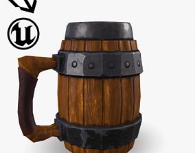 3D asset game-ready Fantasy Beer Mug