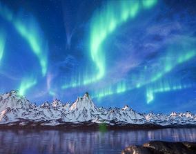 Aurora borealis 3D model
