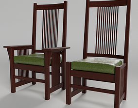 Craftsman Dining Chairs interior 3D model
