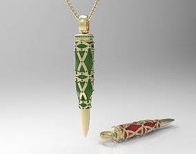 3D print model Original AK47 cartridge pendant with enamel