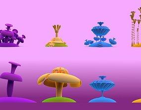 Fantasy flower 3D model