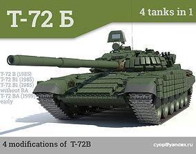 3D T-72B Russian main battle tanks 4 in 1