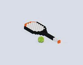 3D model Voxel Tennis Racket B