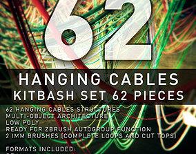 3D asset Hanging Cables - 62 Structures Kitbash set