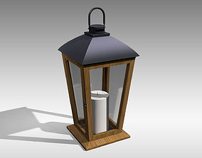3D asset Wood Lantern 05
